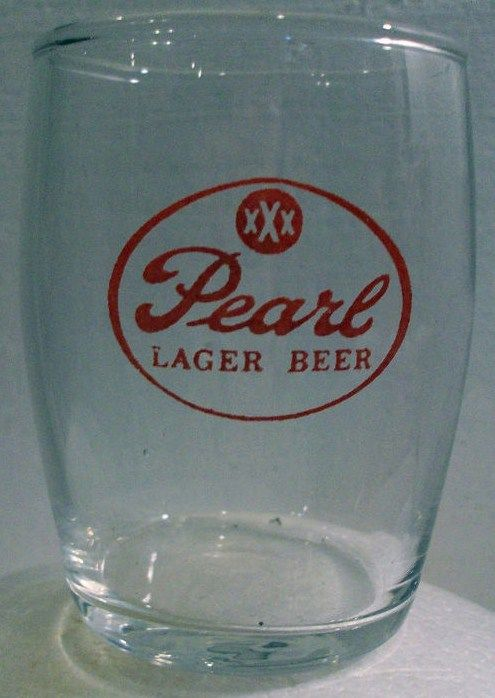 Pearl Lager Beer Glass Barrel Keg Style