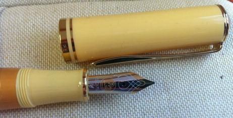 Pelikan Sahara Yellow Fountain Pen 18K Nib