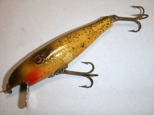 Pflueger Pal-O-Mine Minnow Old Vintage Wood Fishing Lure