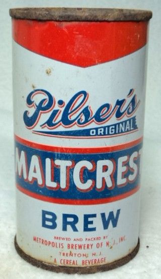 Pilsers Maltcrest Flat Top Beer Can/Trenton, NY