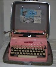 Pink Royal Quiet Deluxe Typewriter