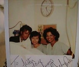 Michael Jackson Polaroid Picture Autograph at Burn Center