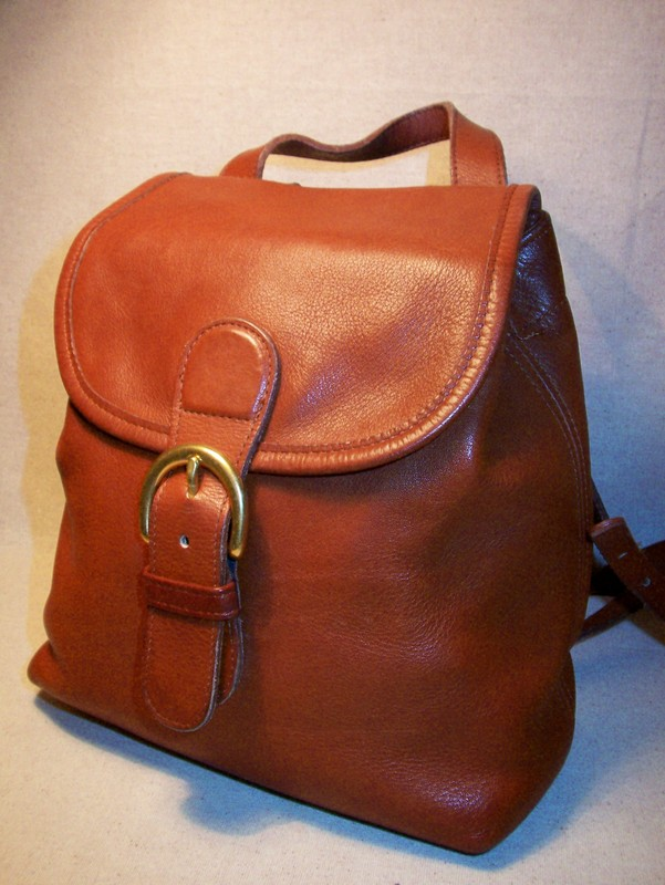 Premium Leather Backpack British Tan