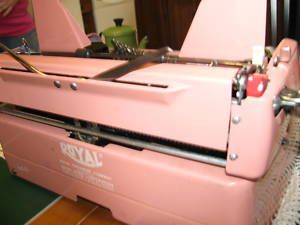Quiet Deluxe Royal Typewriter Pink