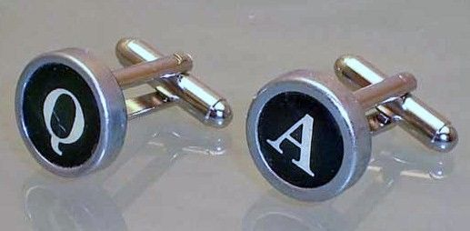 Typewriter Key Cufflinks Q & A
