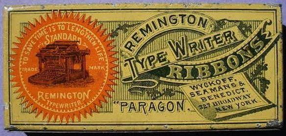 Retangular Reminton Typewriter  Ribbon Tin