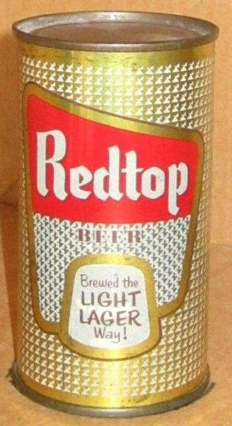 Redtop Beer Flat top beer can/Ohio