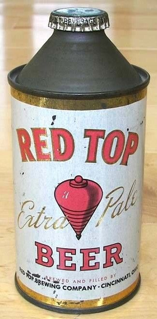 Red Top Extra Pale Beer/Vintage Cone Top Cincinnati, Ohio