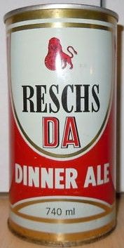 Reschs DA 730ml Steel Beer Can Australia