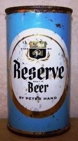 Reserve Flat Top Beer Can/Chicago