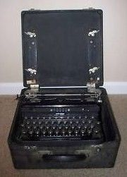 Royal touch Control Typewriter in Case 1940s Model