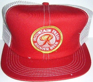Rainer Beer Hat 1990's Red