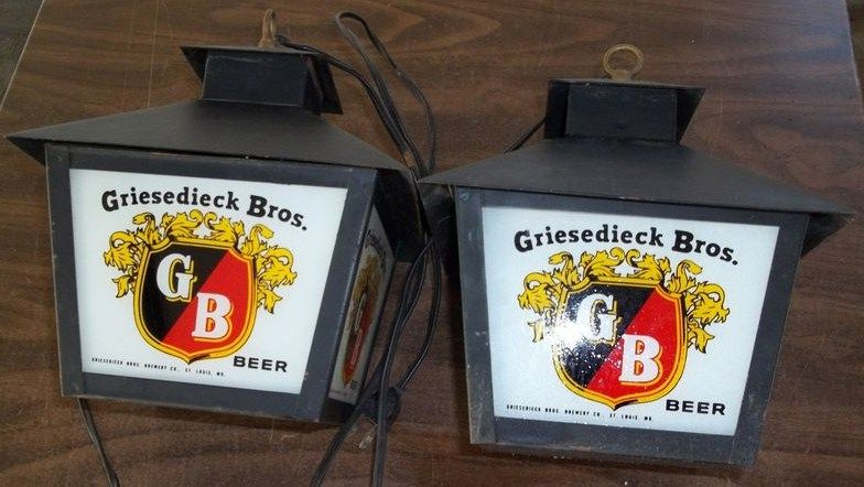Rare Griesedieck GB Brothers Beer Lights