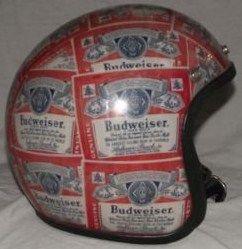 Rare Vintage Budweiser Motorcycle Helmet