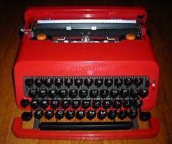 Red Olivetti Valentine Typewriter Sottsass
