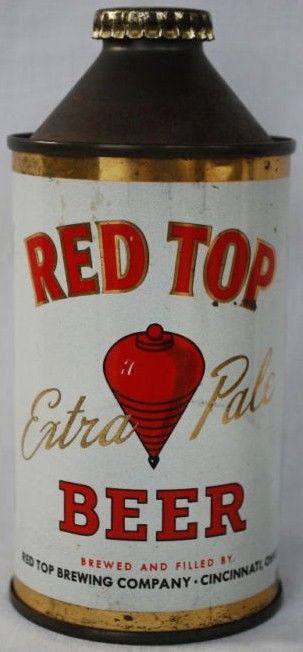 Red Top Extra Pale Cone Top Beer Can Cincinnati Ohio