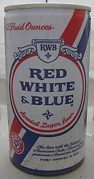 Red White & Blue Flat Top Steel Can Pabst Brewing Wisconsin
