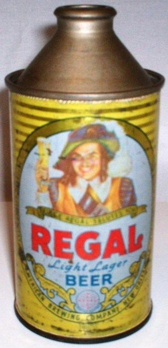 Regal Beer Cone Top Can New Orleans Louisiana 1940s