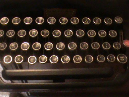 Remington 5 Typewriter Keys Up Close