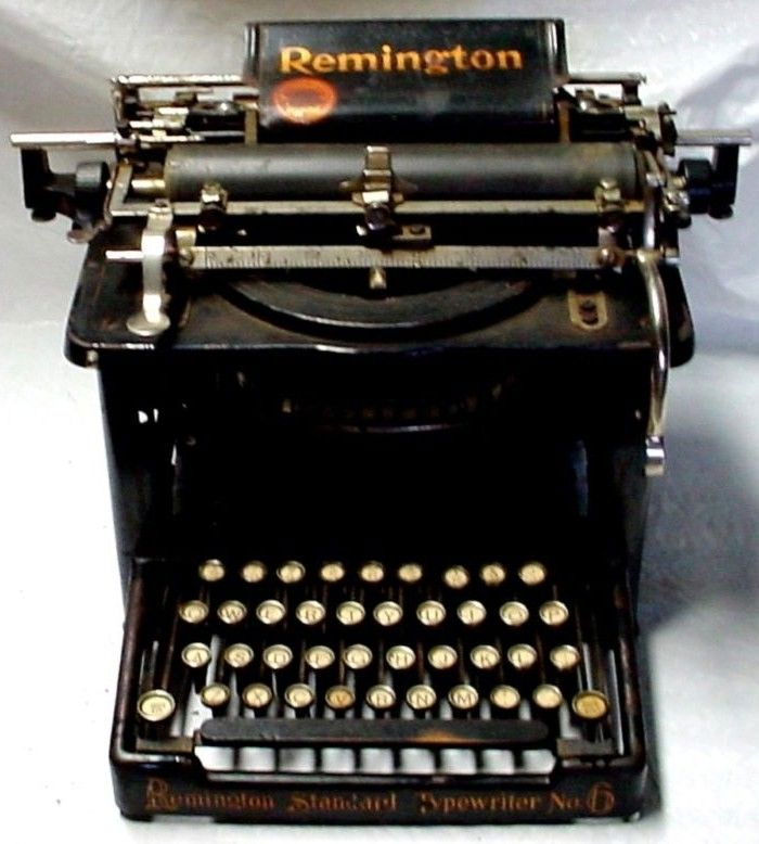 Remington No 6 Typewriter w Glass Keys