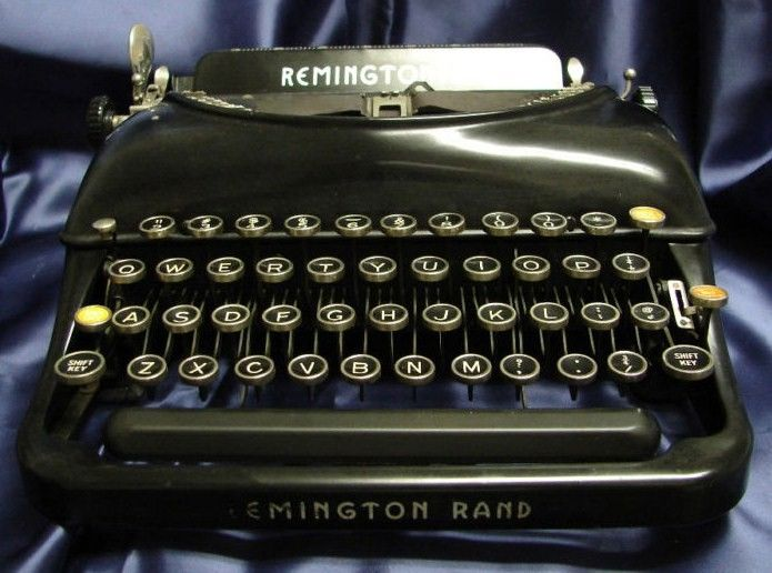 Remington Rand Model #5 Portable Typewriter