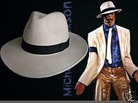 Michael Jackson White Fedora Cashmere Hat