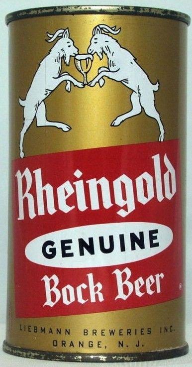 Rheingold Bock Flat Top Beer Can