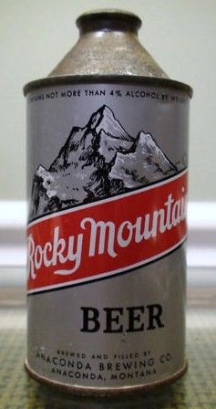 Vintage Collectible Rocky Mountain Cone Top Beer Can