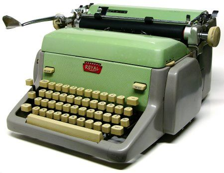 Royal FP Cursive 1961 Mind Green