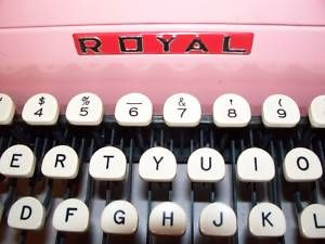 Pink Royal Quiet De Luxe Typewriter Close Up Keypad