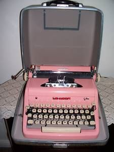 Pink Royal Quiet Deluxe Typewriter in Case