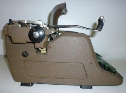 Royal Touch Control Typewriter 1950s Side View