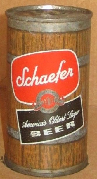 Schaefer Flat Top Beer Can