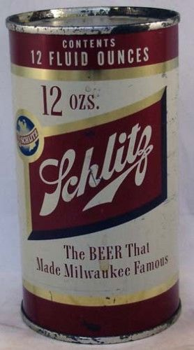 Schlitz Beer 1954 Milwaukee Flat Top Can