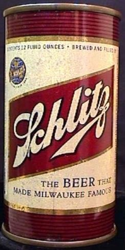 Vintage Schlitz Beer Withdrawn Free 1945 Flat Top Can Milwaukee