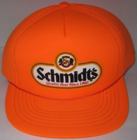 Schmidt's Beer Vintage 1980s Orange Hunter Hat