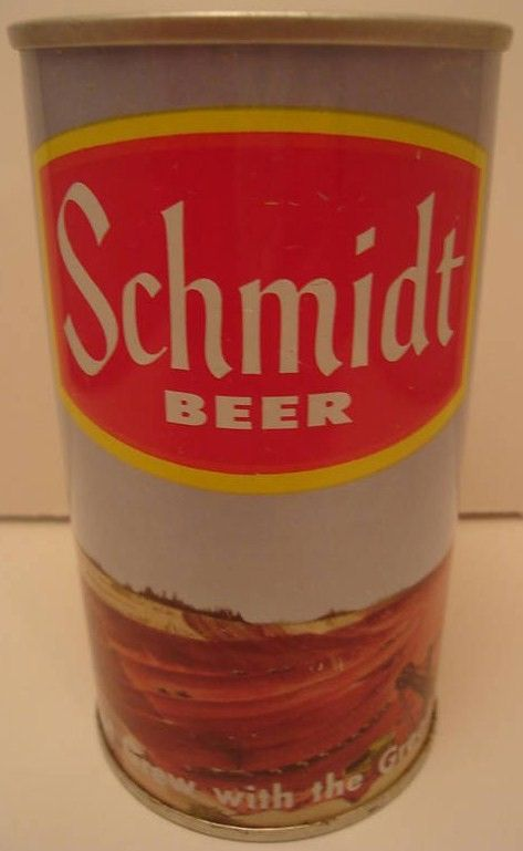 Schmidt Bear Straight Steel Yellow Beer Can