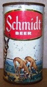 Schmidt Elk Scene Flat Top Beer Can
