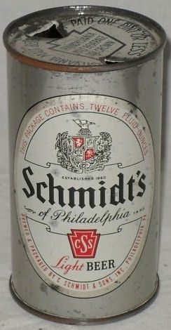 Old Schmidt's Flat Top Beer Can