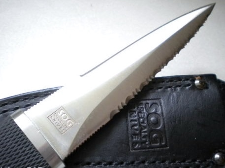 Pentagon Seki Japan Fixed Blade Viewing Tip Close Up