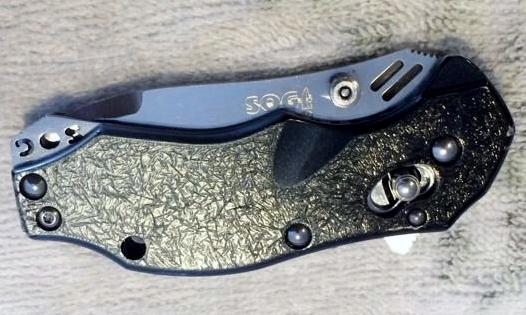 SOG VG-10 Bluto Seki Japan Pocket Knife/Closed View