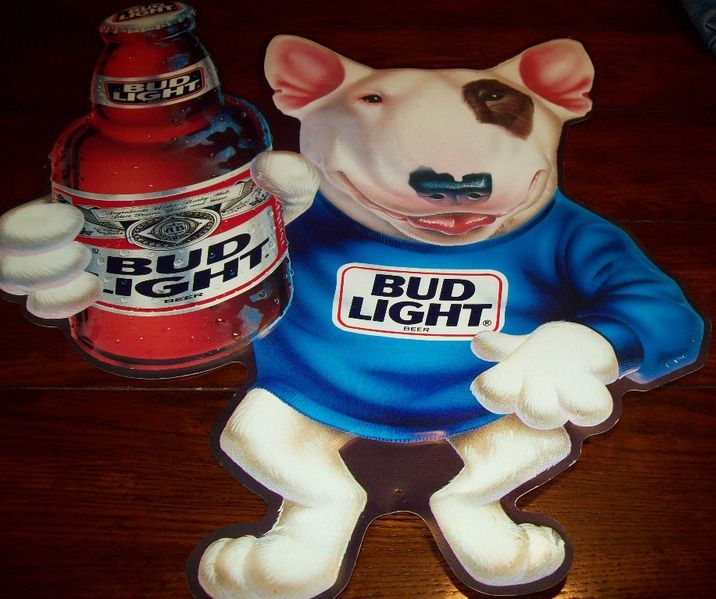 Spuds MacKenzie Dog Bud Light Sign/Tin