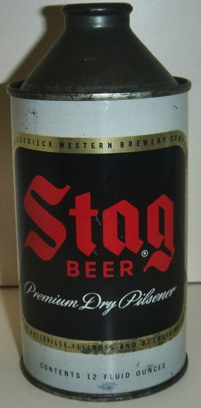 Stag Premium dry Pilsner Beer Cone Top Beer Can