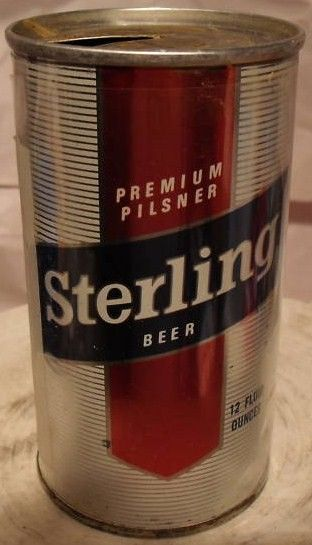 Sterling Premium Pilsner Beer Early Zip top can