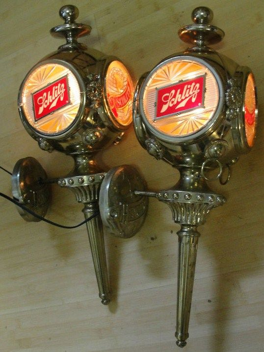 Schlitz Beer Electric Lamp Sconces Wall Mount