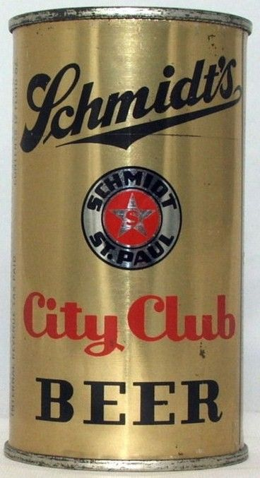 Schmidt's City Club Flat Top Beer Can IRTP