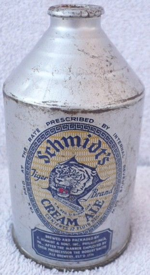 Schmidt's Cream Ale Crowntainer Cone Top Beer Can