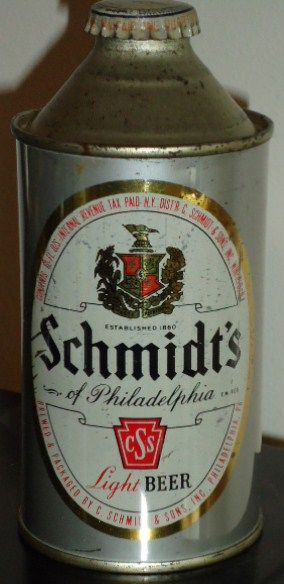 Schmidt's of Philadelphia Cone Top Beer Can