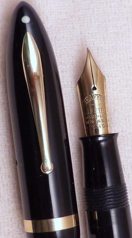 Sheaffer Lifetime Oversize Lever Filler Black Fine Nib