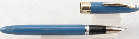 Sheaffer Snorkel Statesman Blue & Gold Fountain Pen 1950s